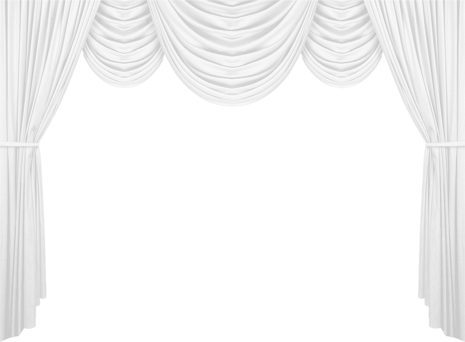 White curtain png picture. Curtains clipart theatre