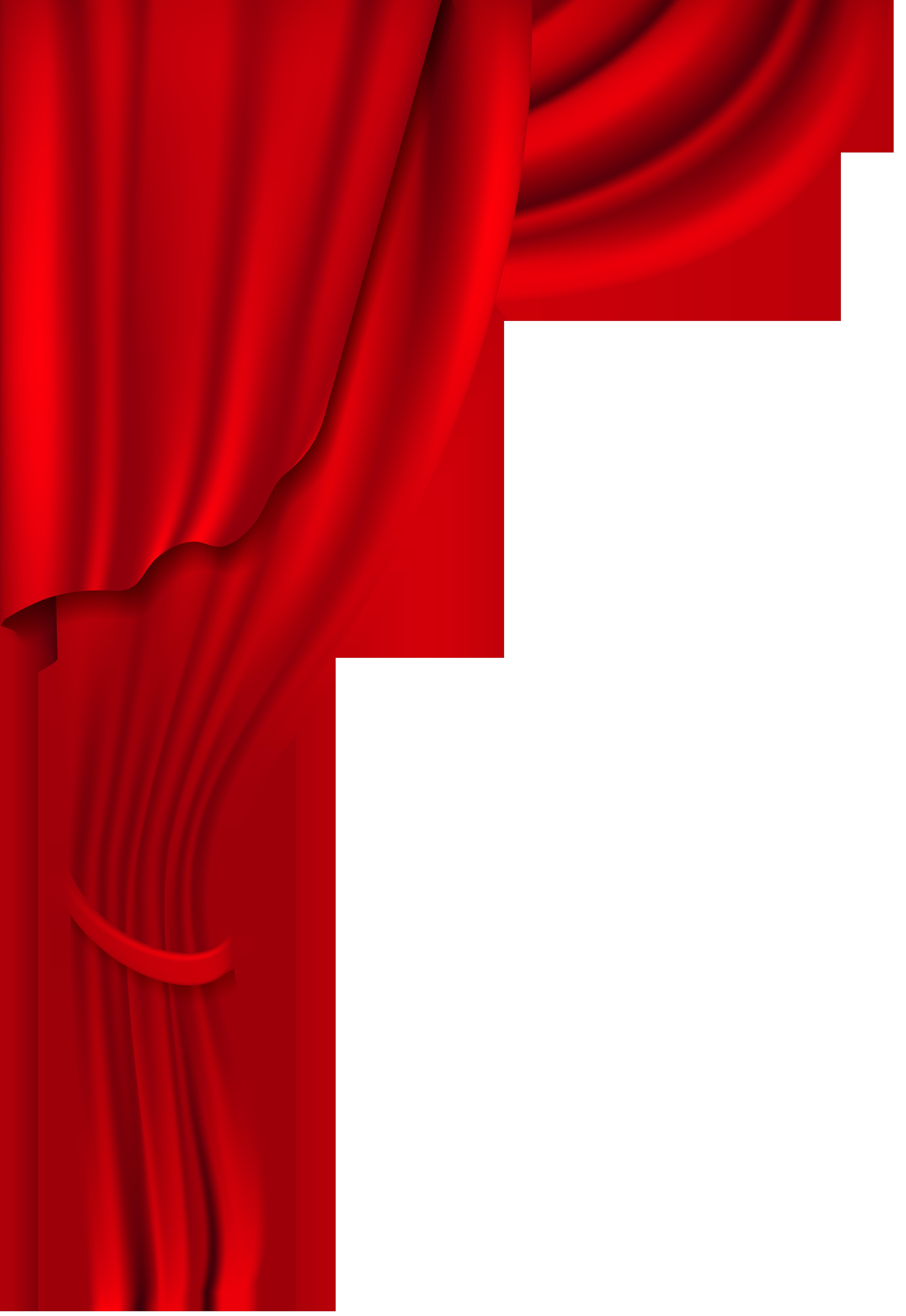 Red curtain transparent clip. Curtains clipart pixel art