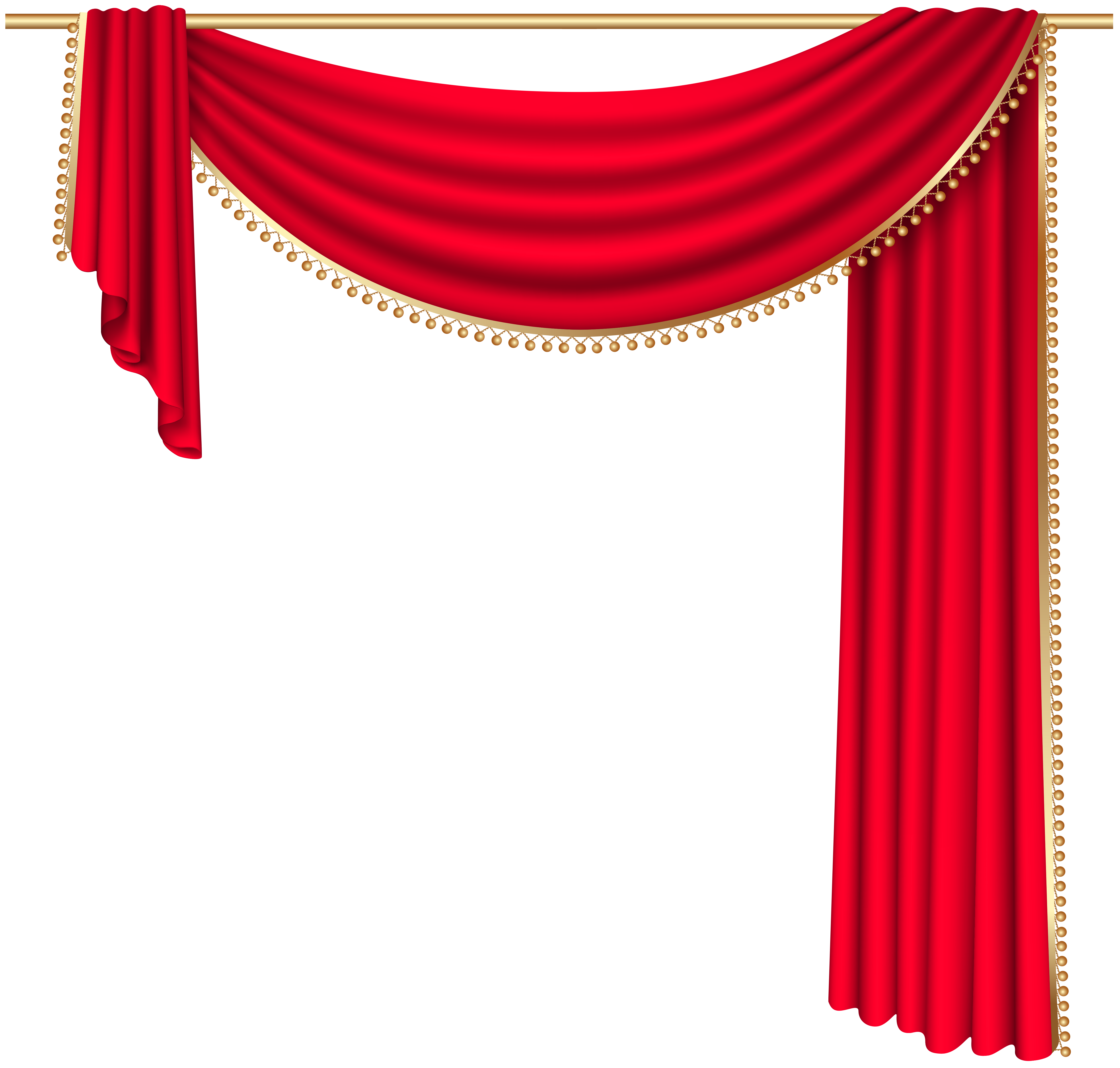 Red transparent png clip. Furniture clipart bedroom curtain