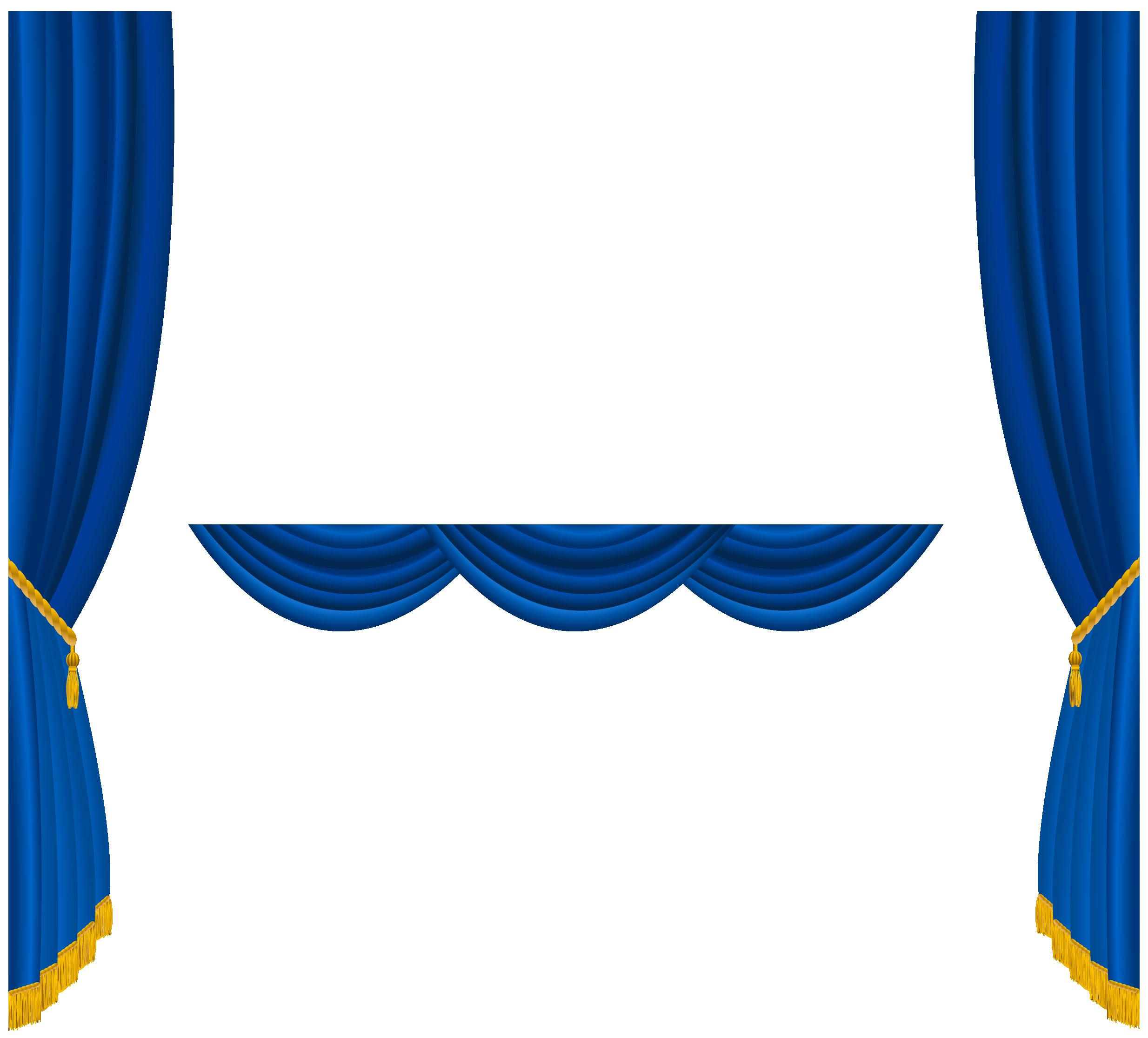 Theatre clipart border. Transparent blue curtains decoration