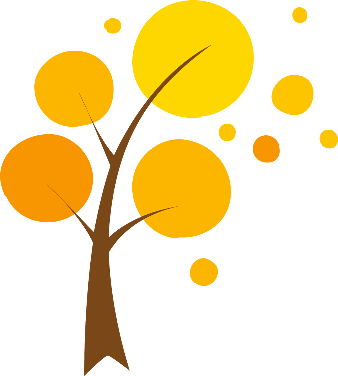 Clipart trees abstract.  collection of cute
