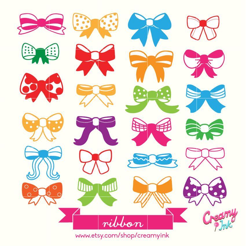 Scrapbook clipart scrapbook design. The cute ribbon digital