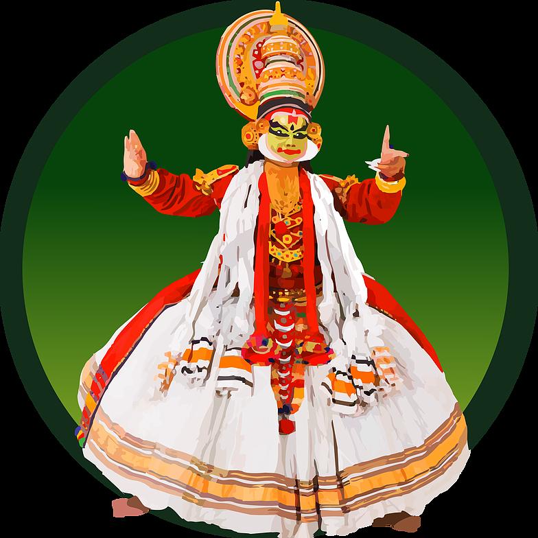 Nehachavan icon designs kathakali. Design clipart dance