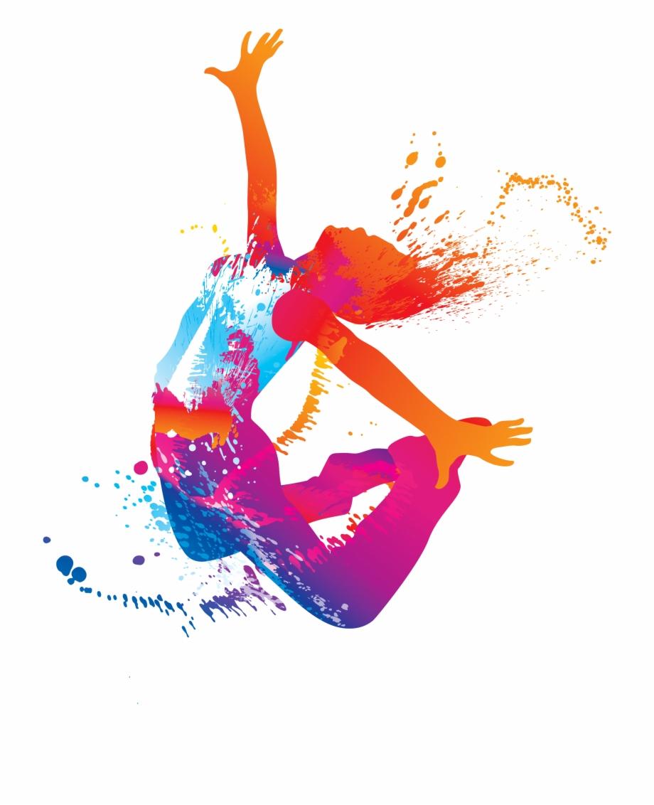 Dance ballet dancer color. Dancing clipart colorful