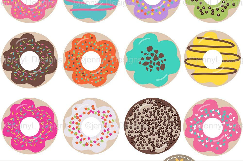 Set . Donut clipart design