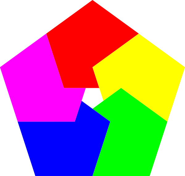 Donut clipart design. Pentagon colors clip art