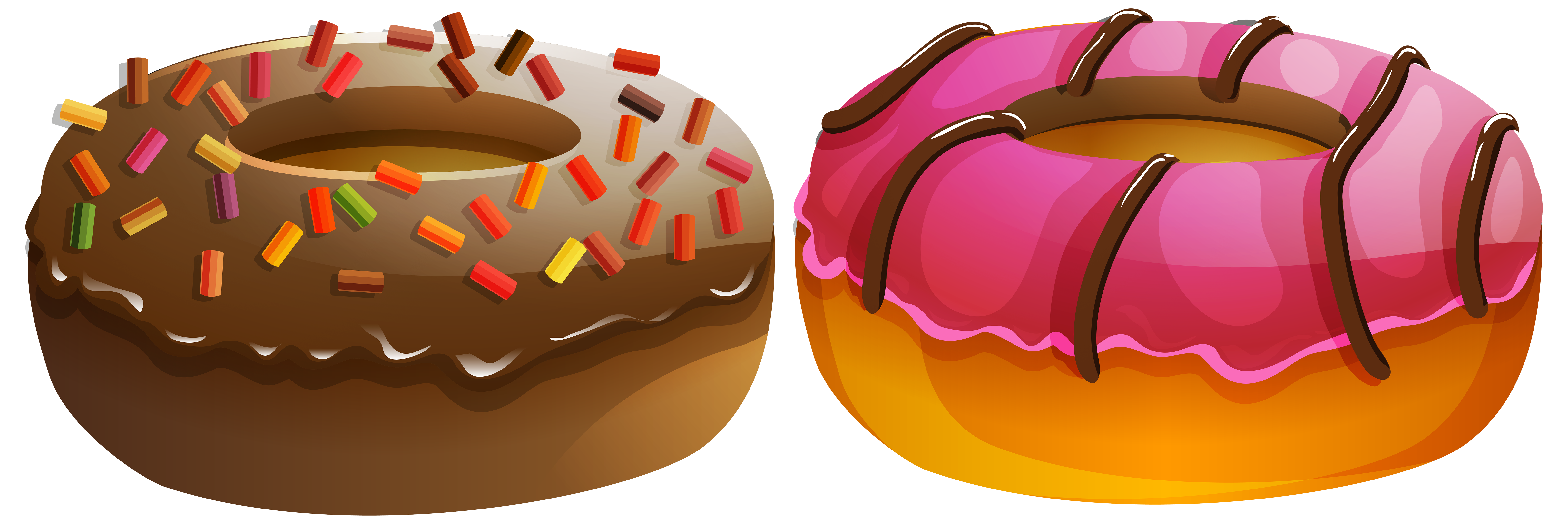 Doughnuts png clip art. Hearts clipart donut