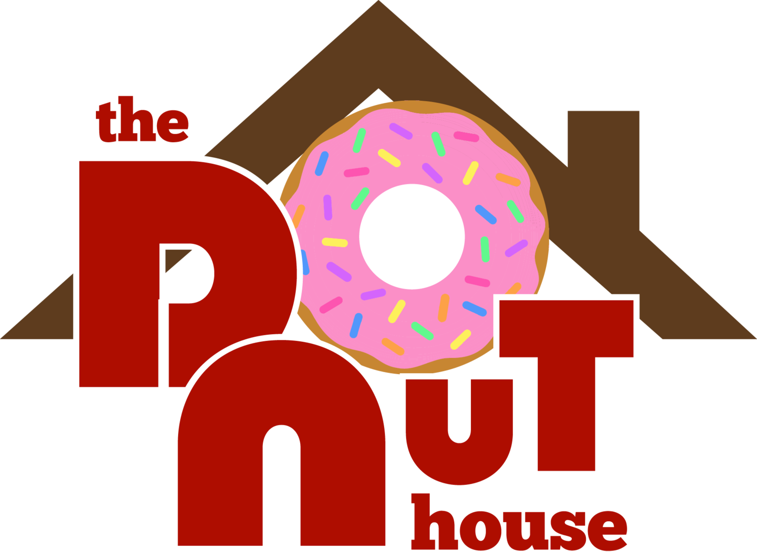 Donut clipart red. The house oak