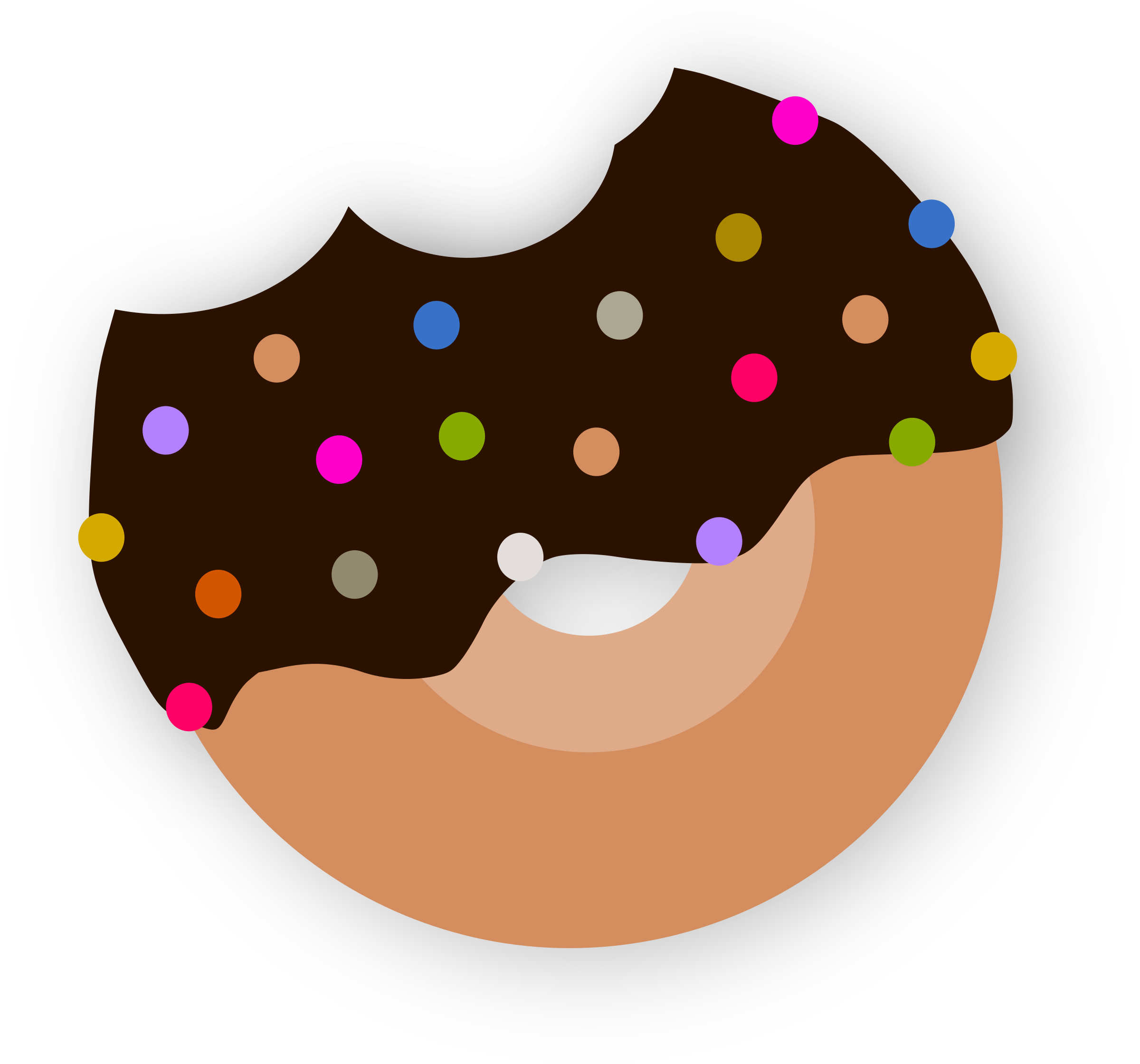 Donut clipart design. Delicious with chocolate big