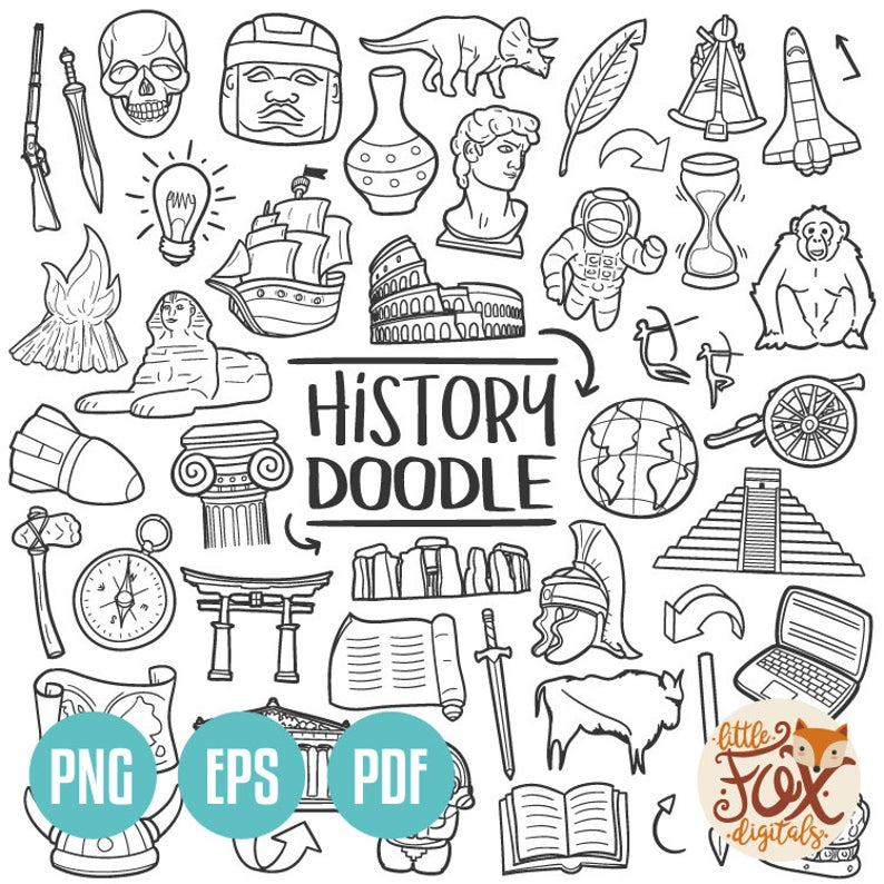 Vector eps subject historical. History clipart school history
