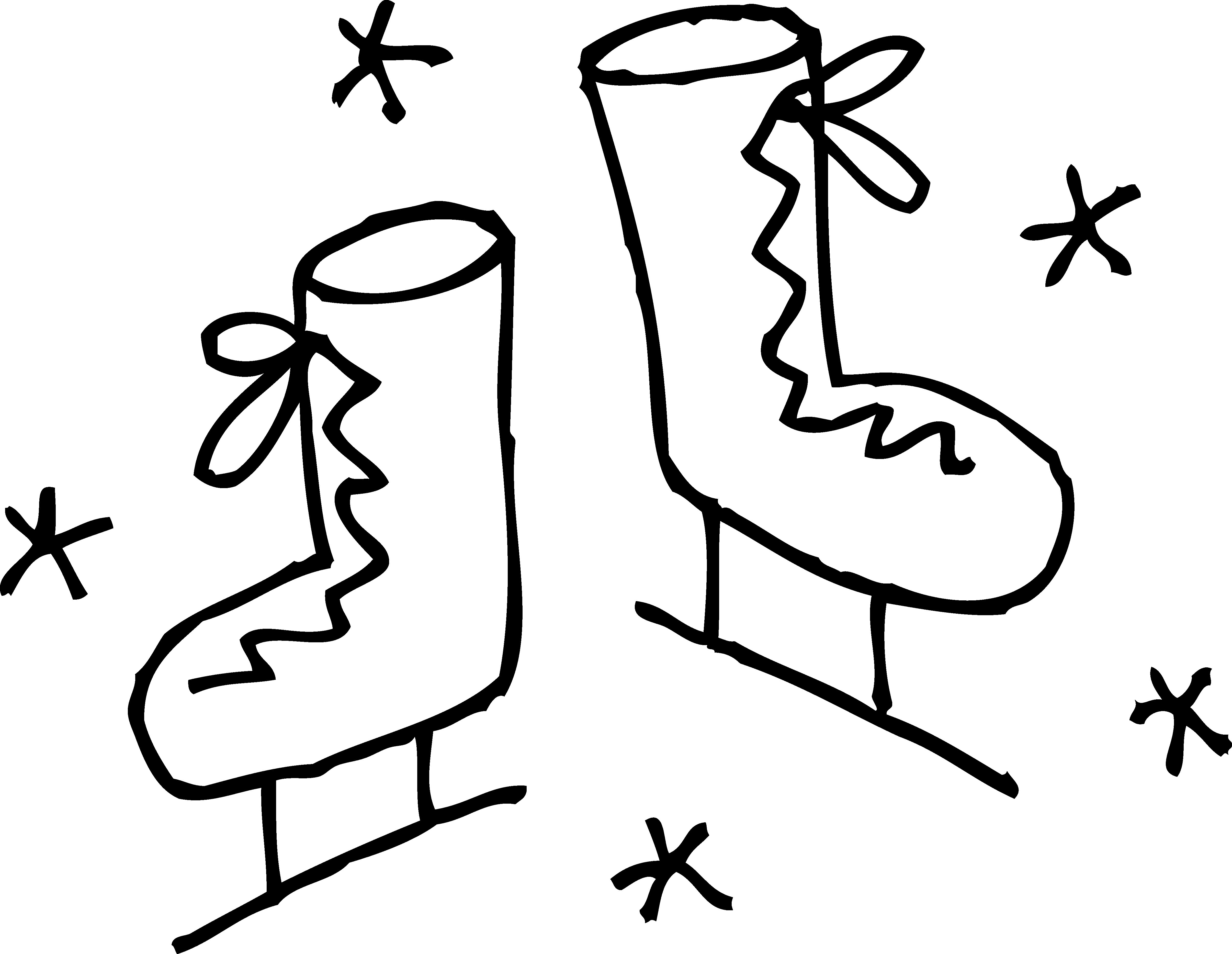 Skates coloring free clip. Ice clipart colouring page