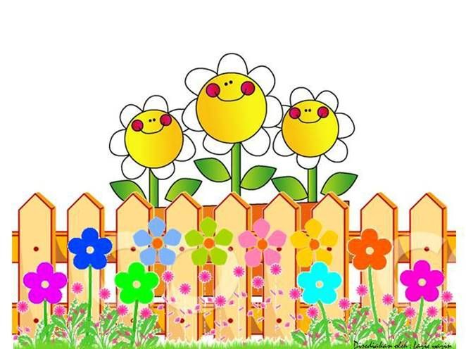 Fencing clipart fence border. Flower fences collections cartoon
