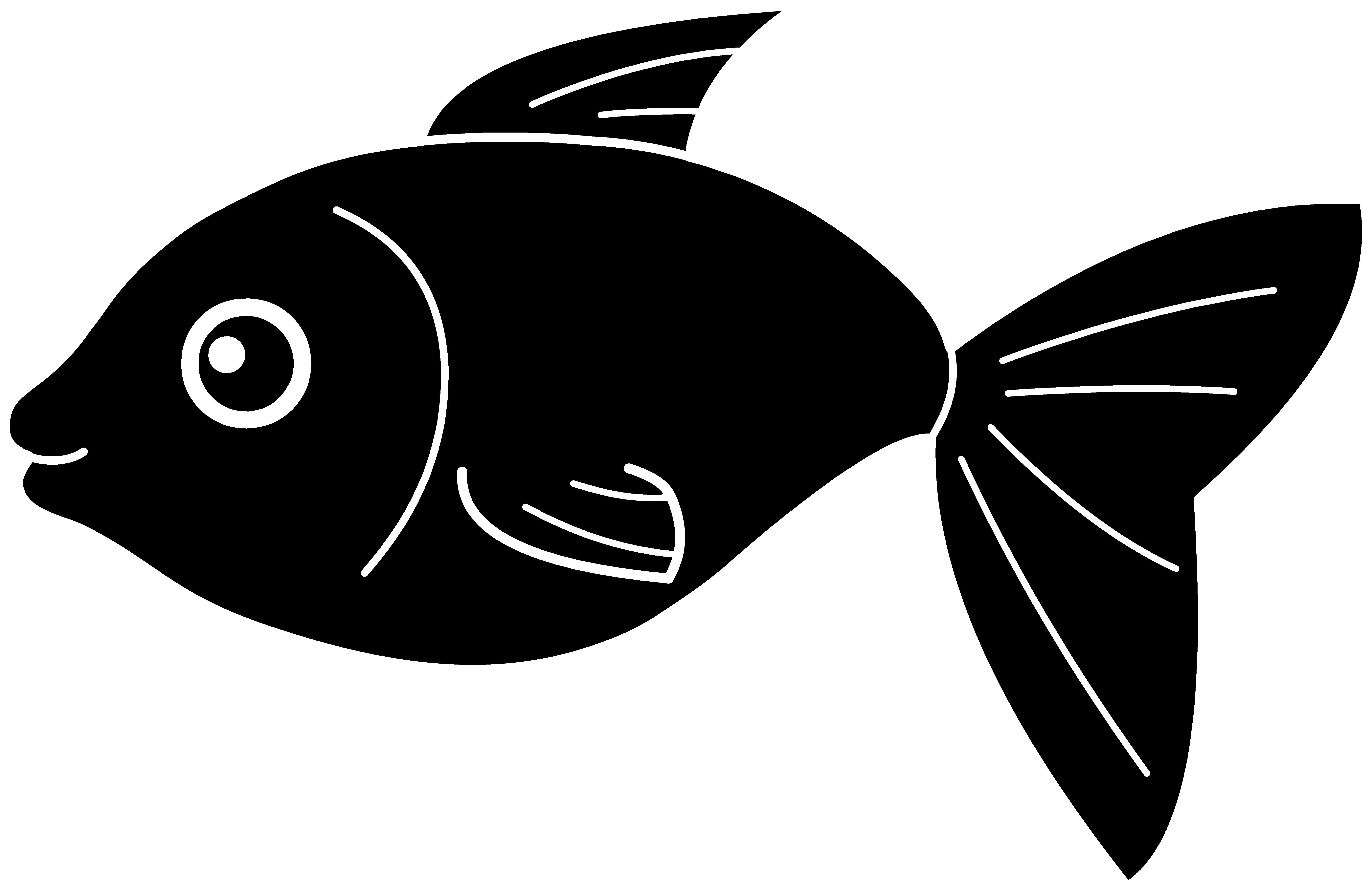 Clip art black and. Clipart fish shadow