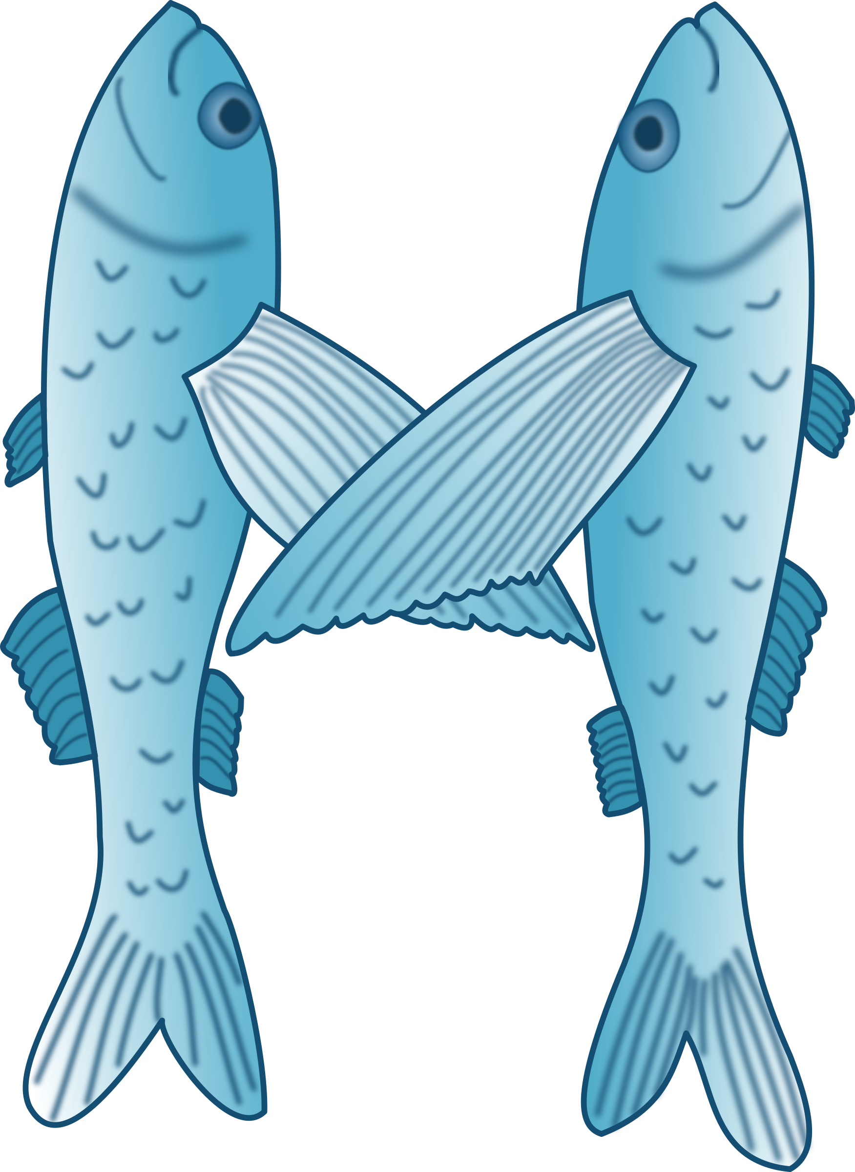 clipart fish teal