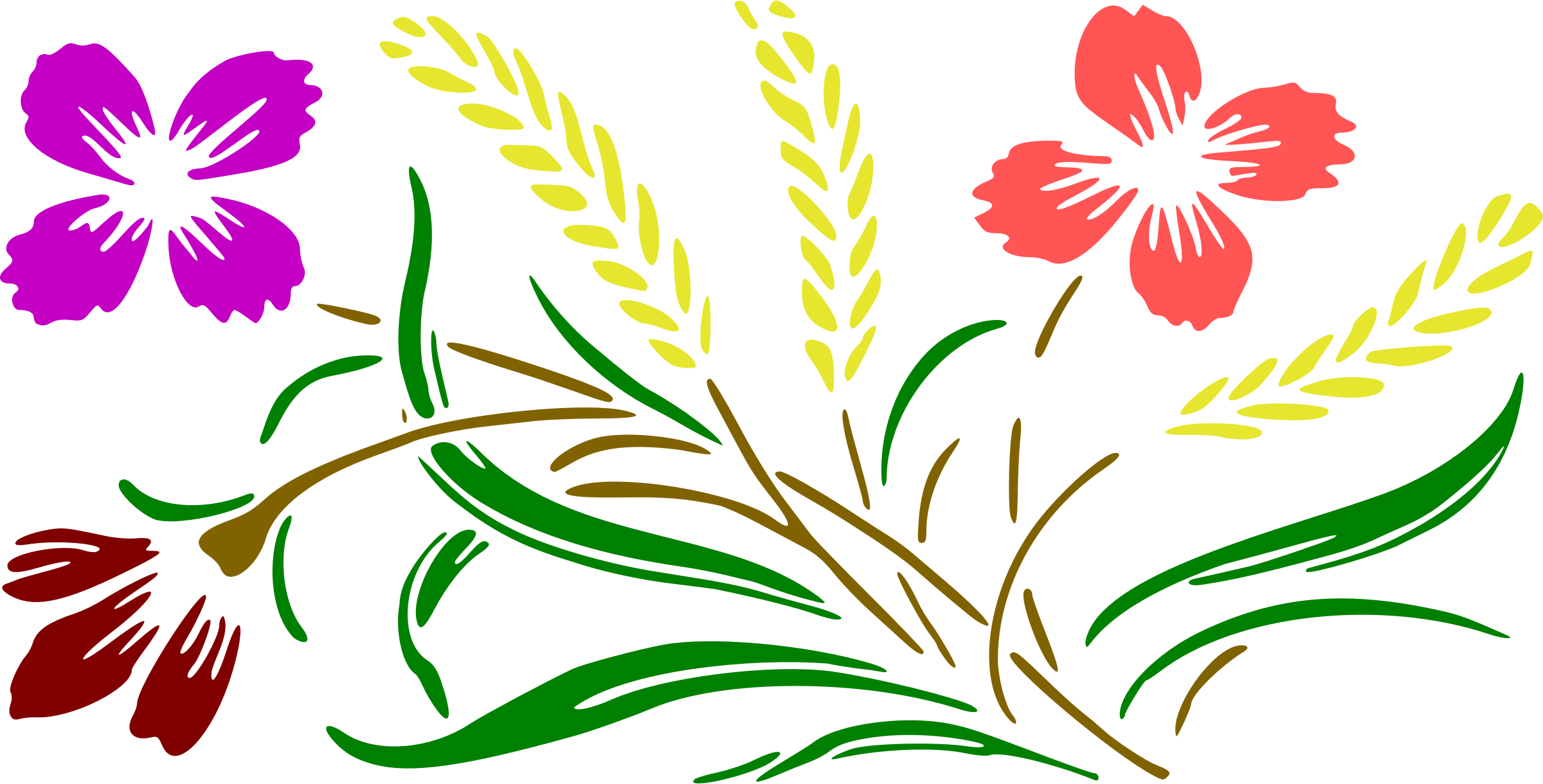 Clipart leaf floral. Design colour big image