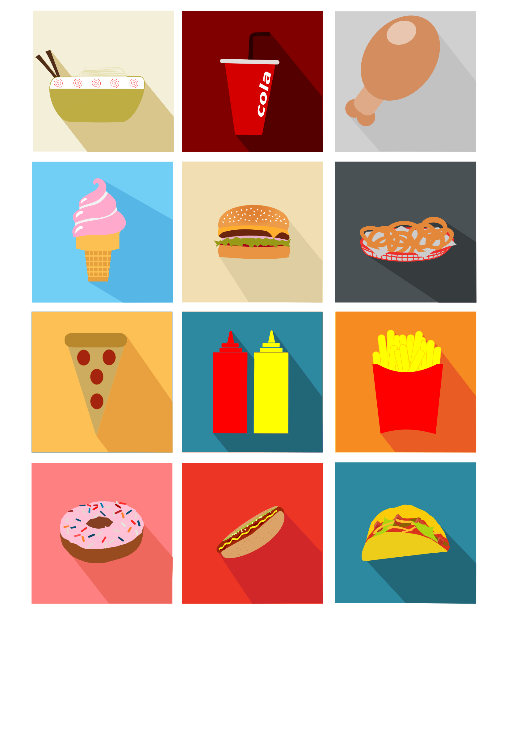 Pizza clipart junk food. Fast long shadow icons