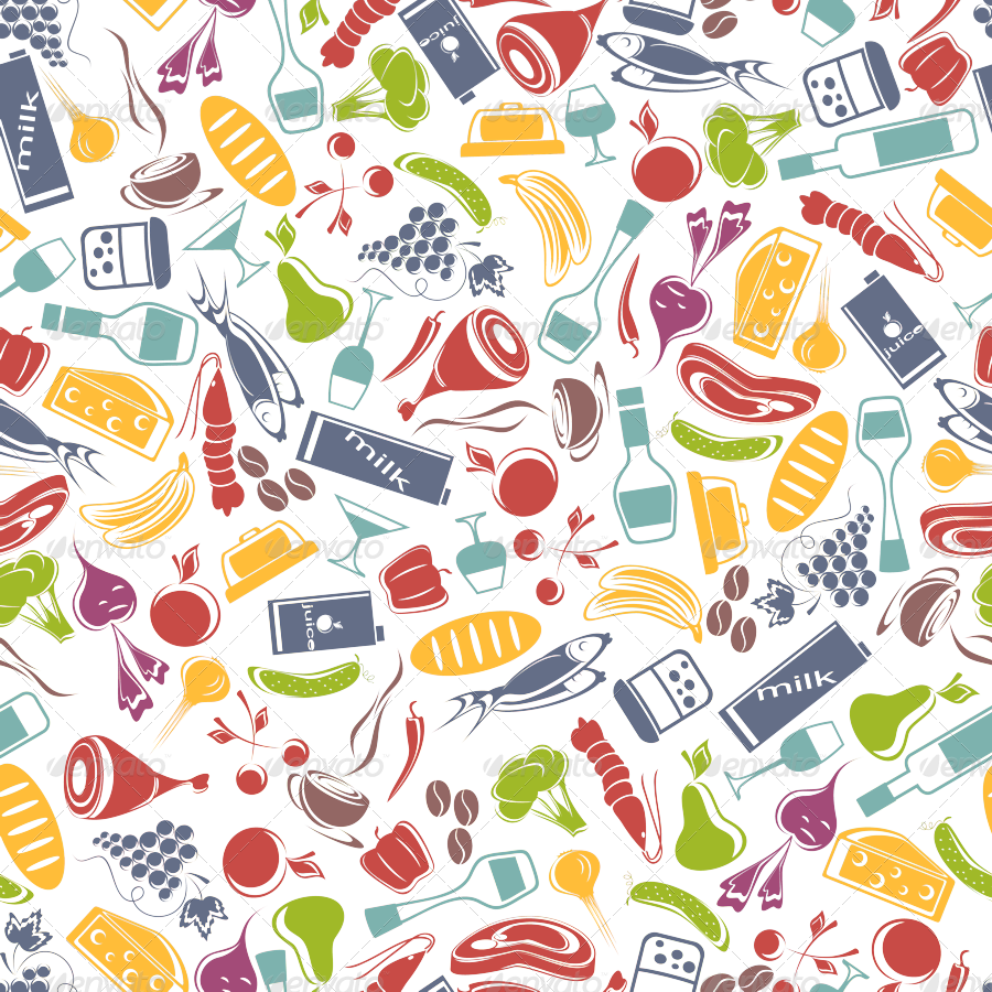 Food clipart background image. Pattern by si anti