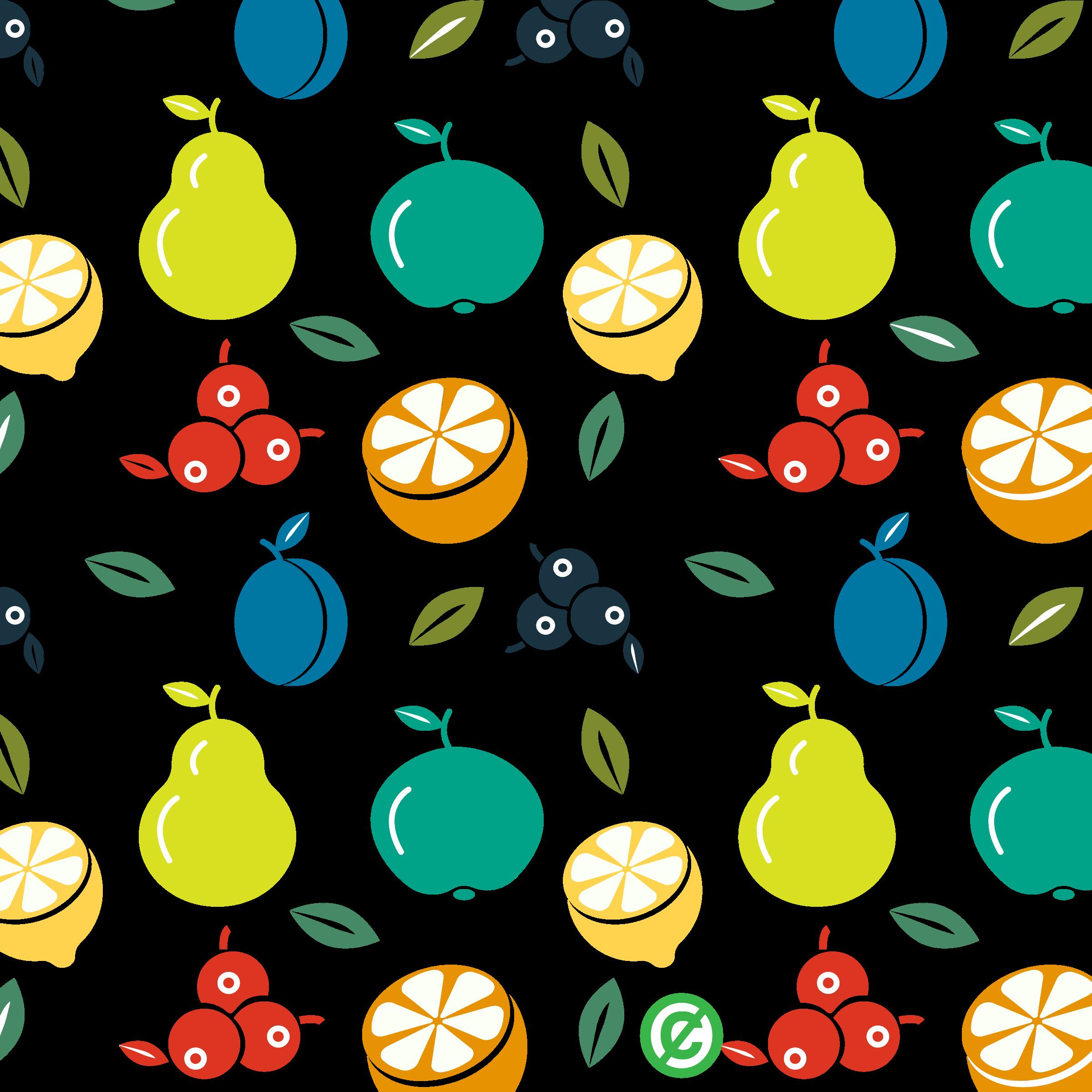 Design clipart fruit. Pattern background big image