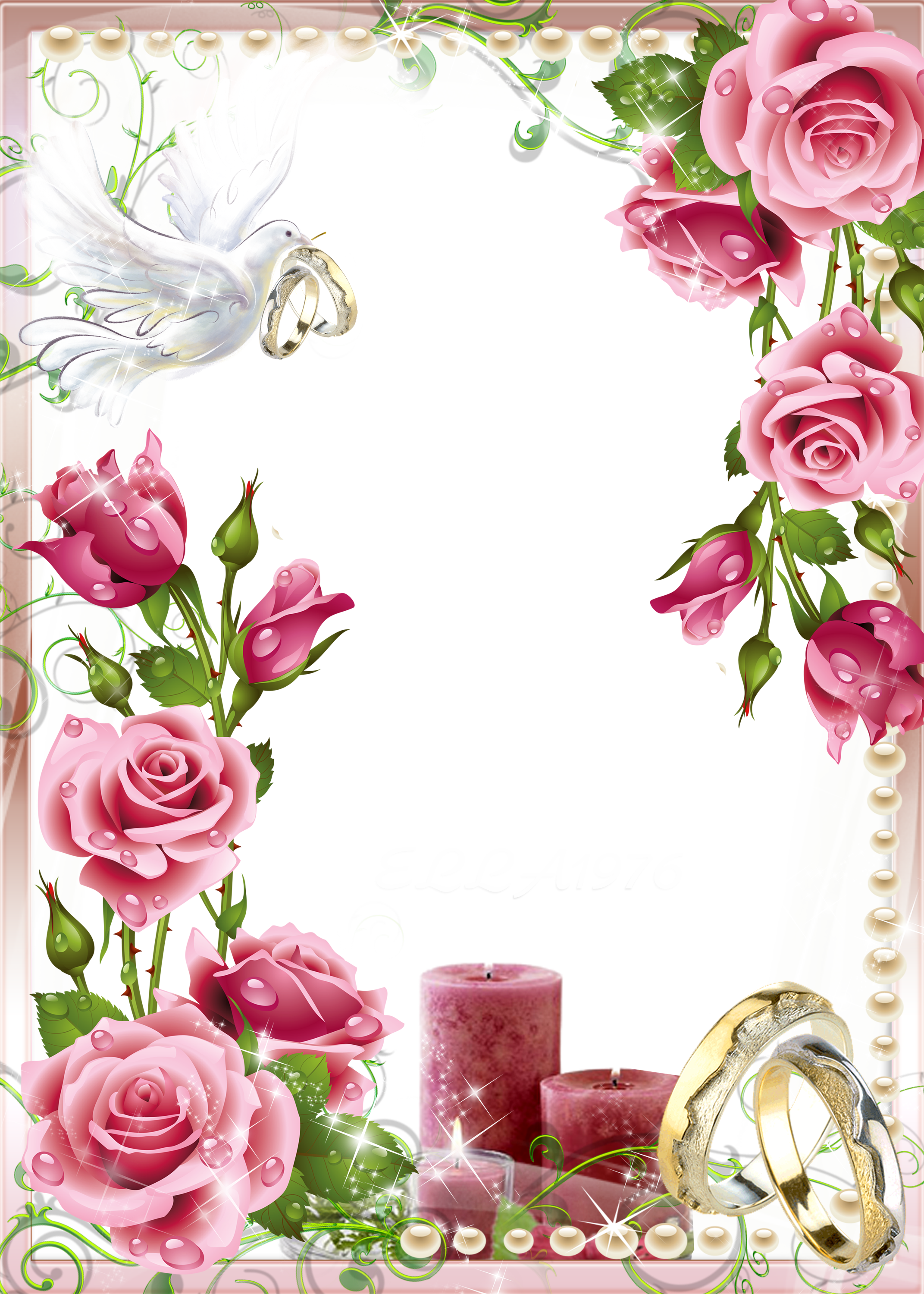 Clipart wedding rose. Soft pink photo png