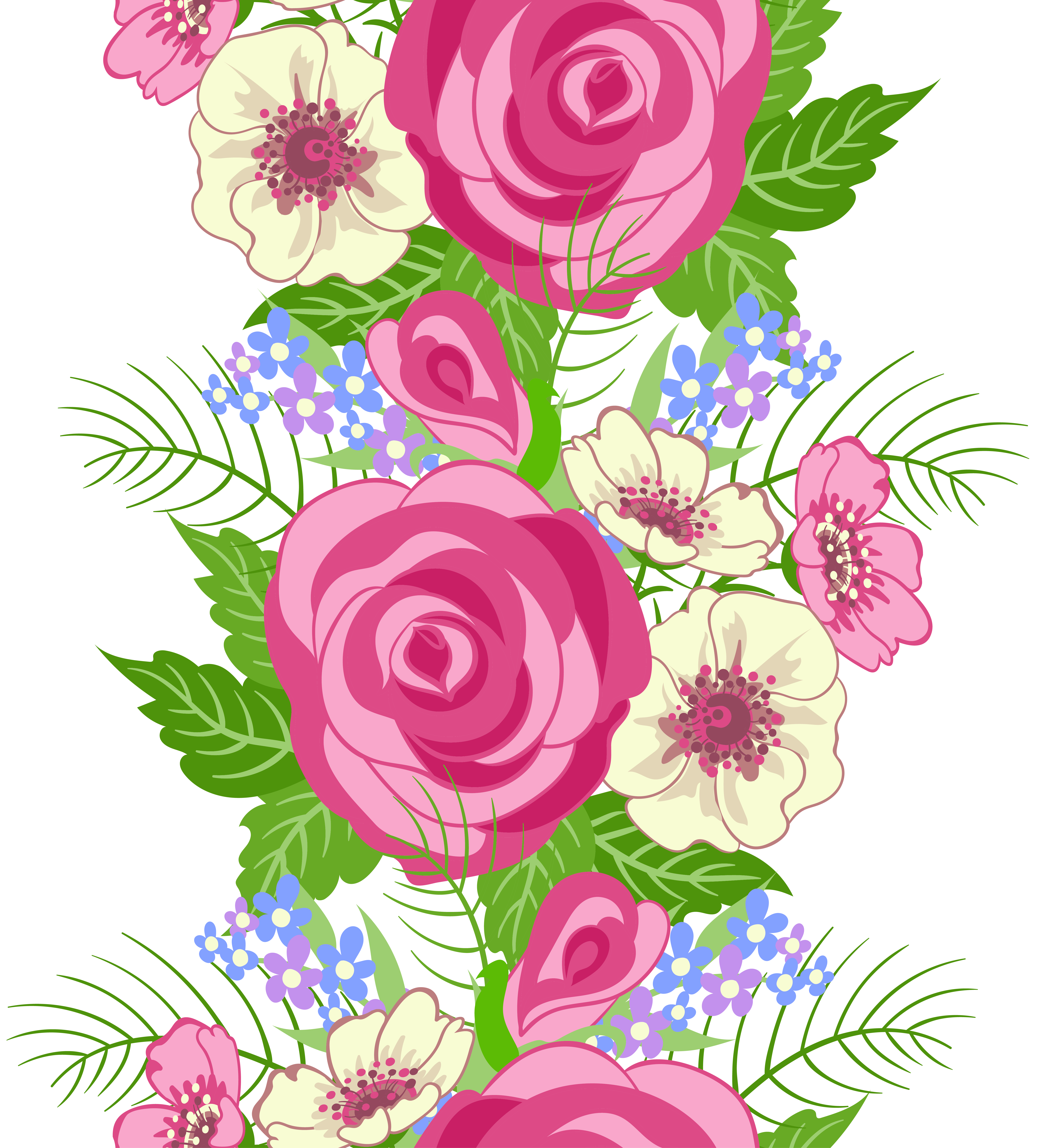 Floral element png image. Clipart roses embroidery