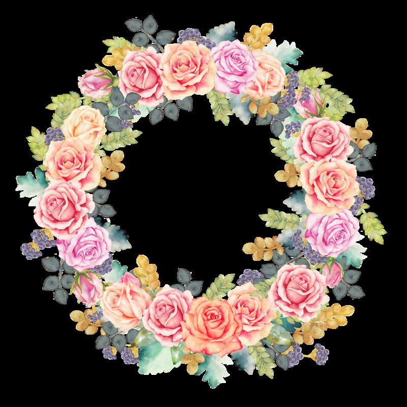 Garden clipart wreath. Dreaming rose auraandthecat png