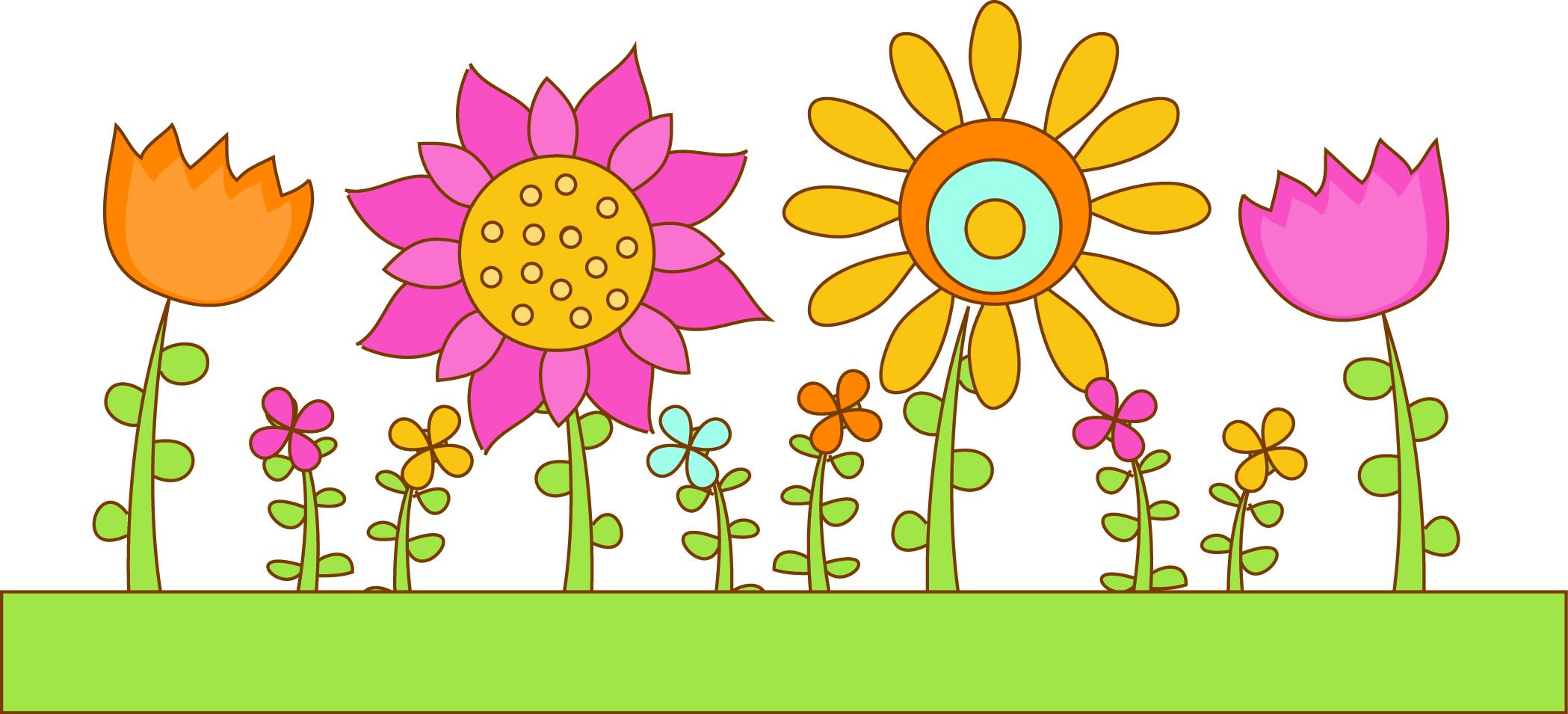 Garden clipart banner. Flower look at clip