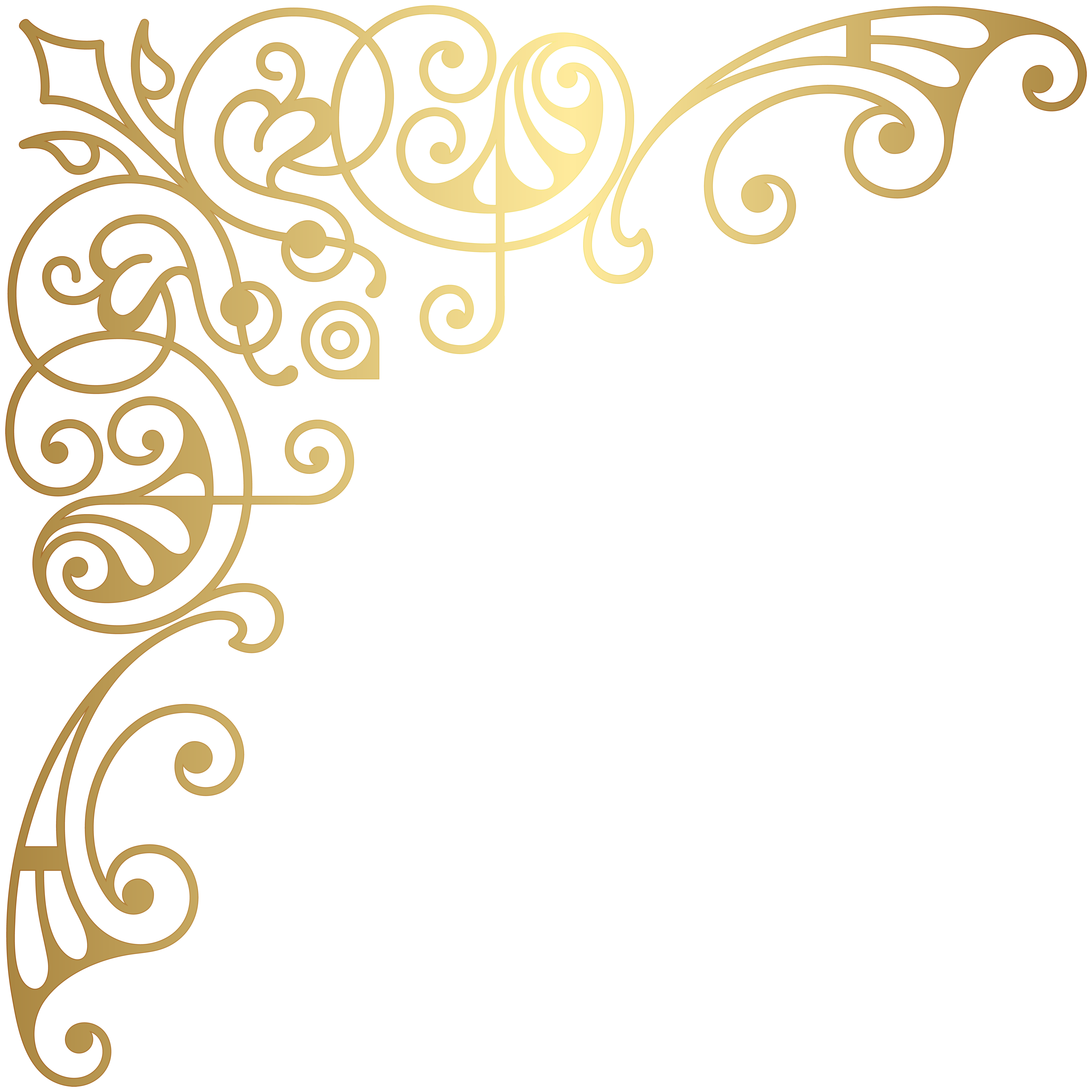 Clipart gallery visual art. Gold corner decorative transparent