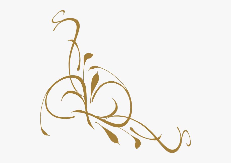 Gold elegant designs bd. Rose clipart swirl