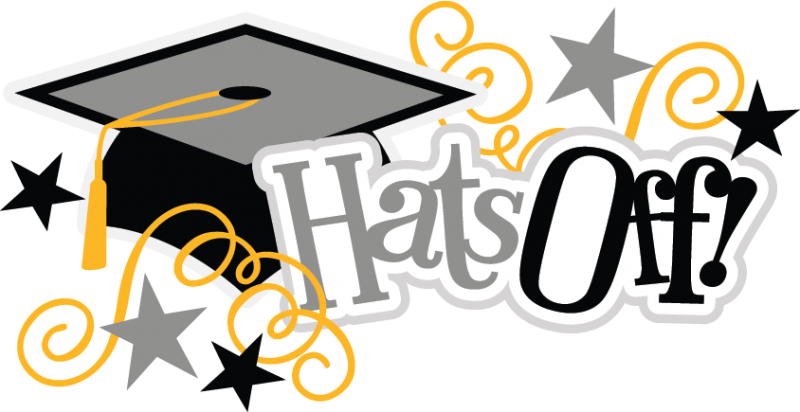 Hats off svg scrapbook. Congratulations clipart grad