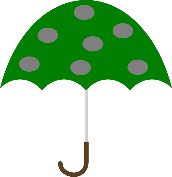 Clipart umbrella triangular. Green clip art at