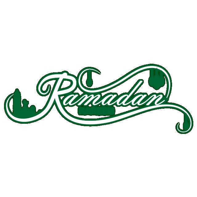 Ramadan kareem logo vector. Design clipart green