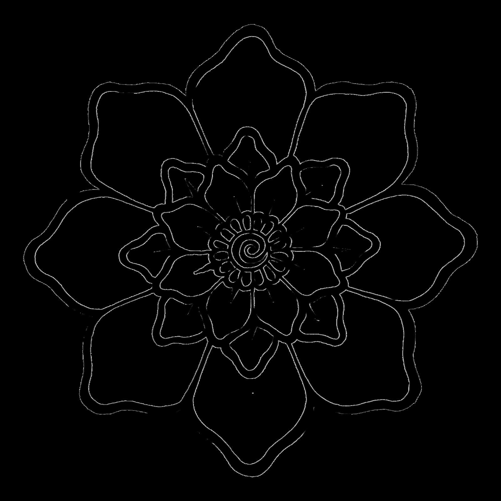 Henna flower by teenu. Flowers clipart texture