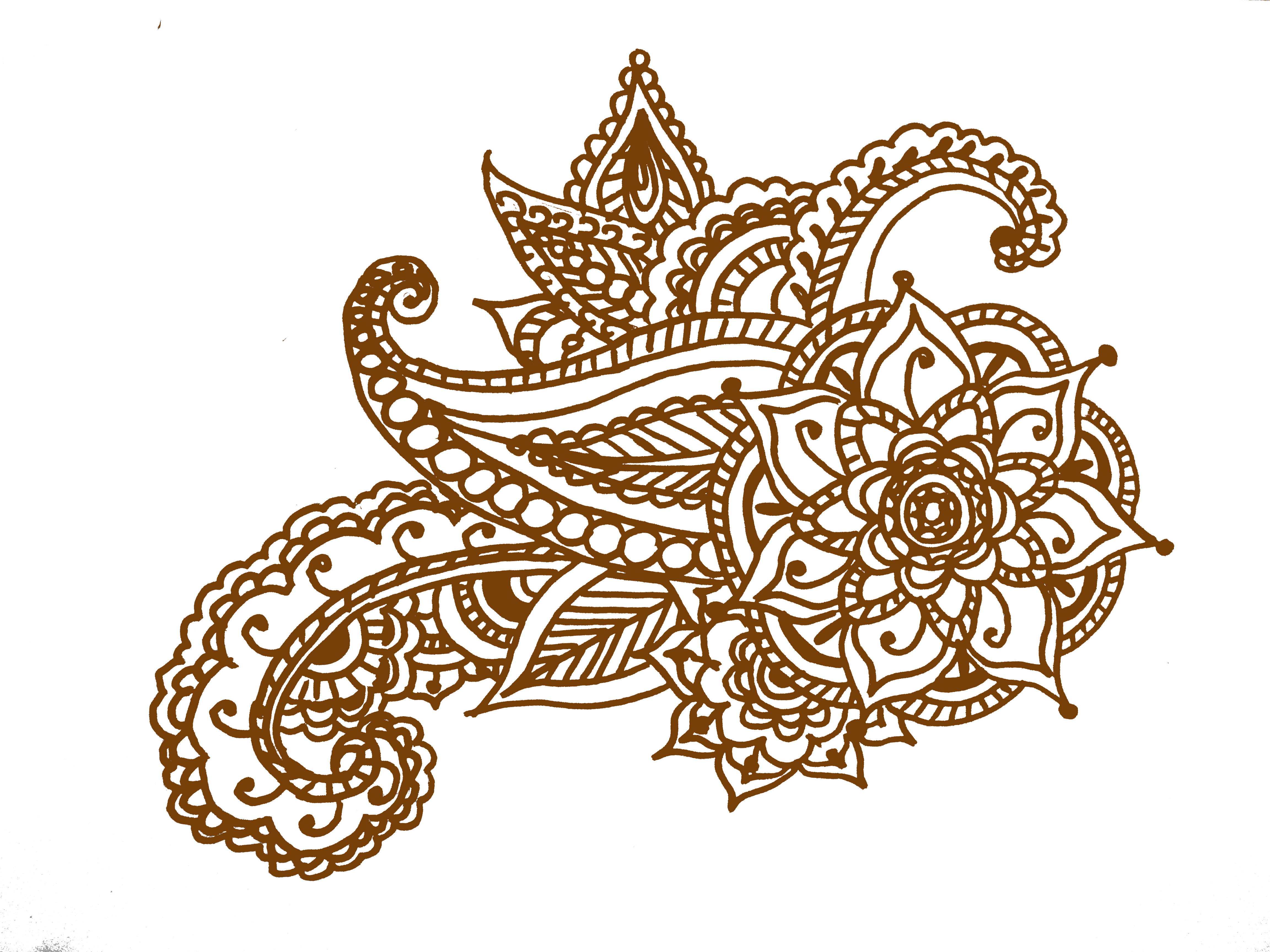 Easy henna foot designs. Lace clipart mehandi design