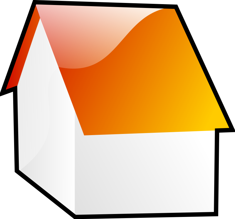 House free stock photo. Thumb clipart orange