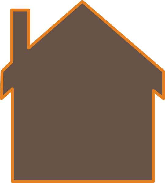 Clipart house brown. Clip art at clker