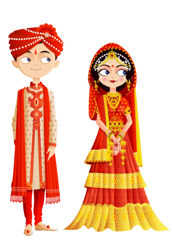 India clipart clothes. Wedding invitation weddings in