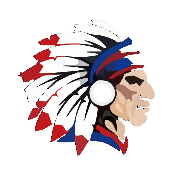 Design clipart indian. Head outline clip art