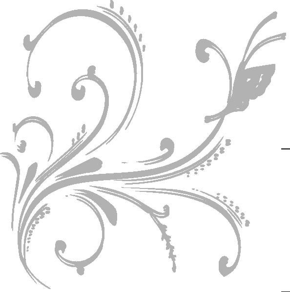 Grey floral design invite. Clipart designs silver