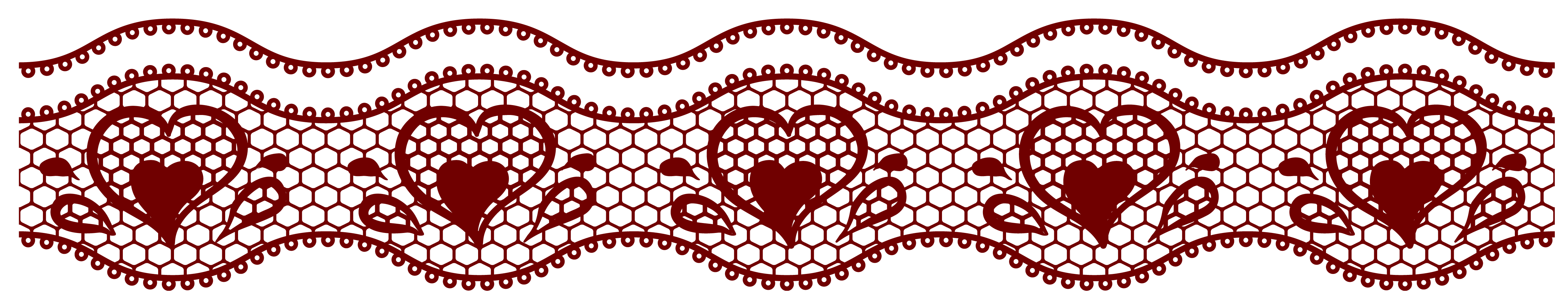 Square clipart lace. Transparent with hearts decoration