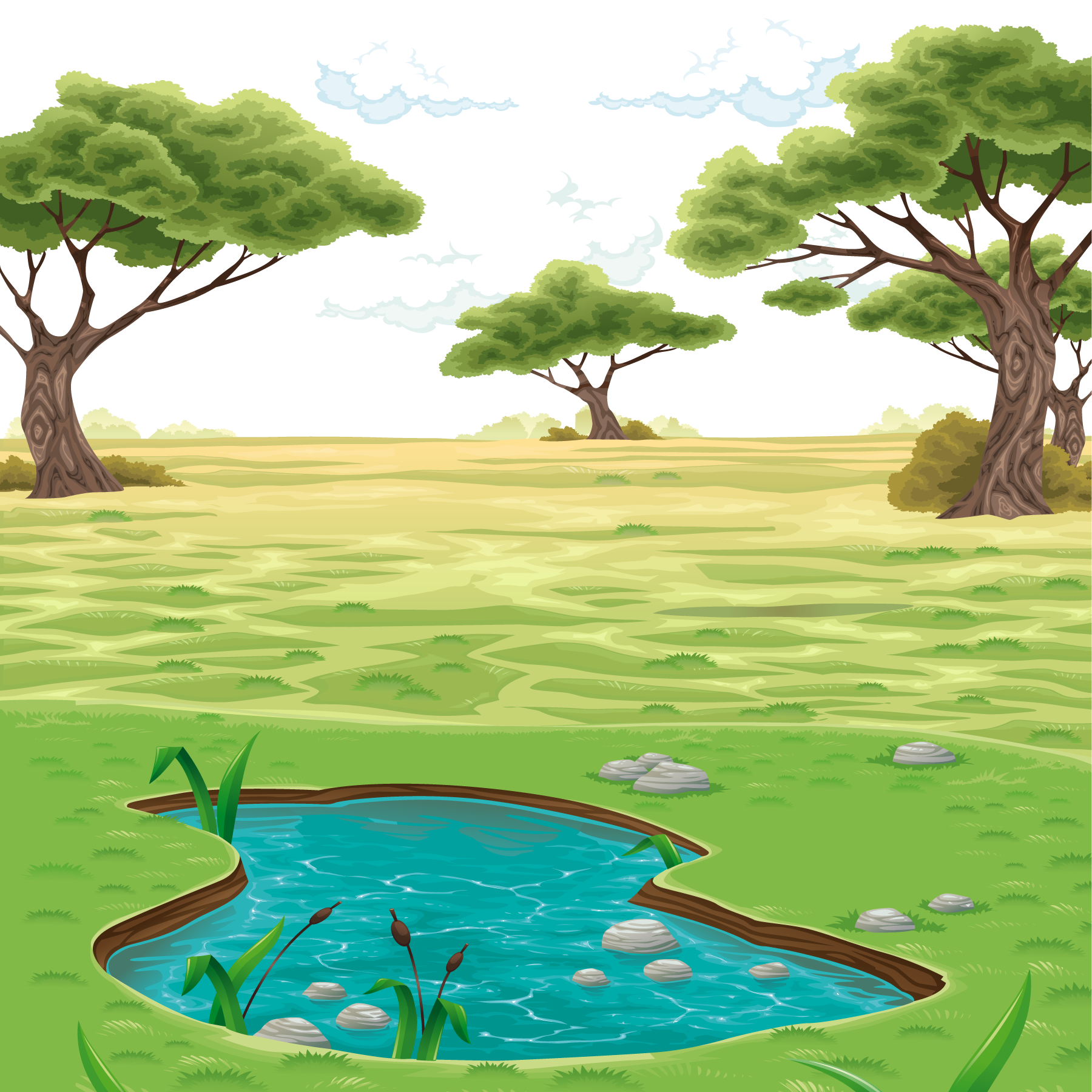 Drawing clip art vector. Home clipart landscape