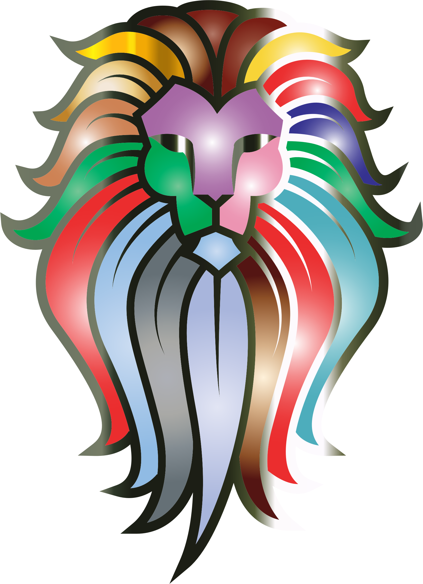 Lion face at getdrawings. Faces clipart male character