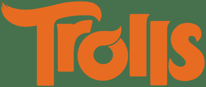 Trolls logo transparent png. Design clipart orange