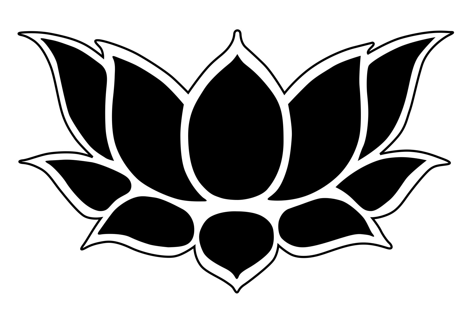 Free flower outline download. Lotus clipart simple