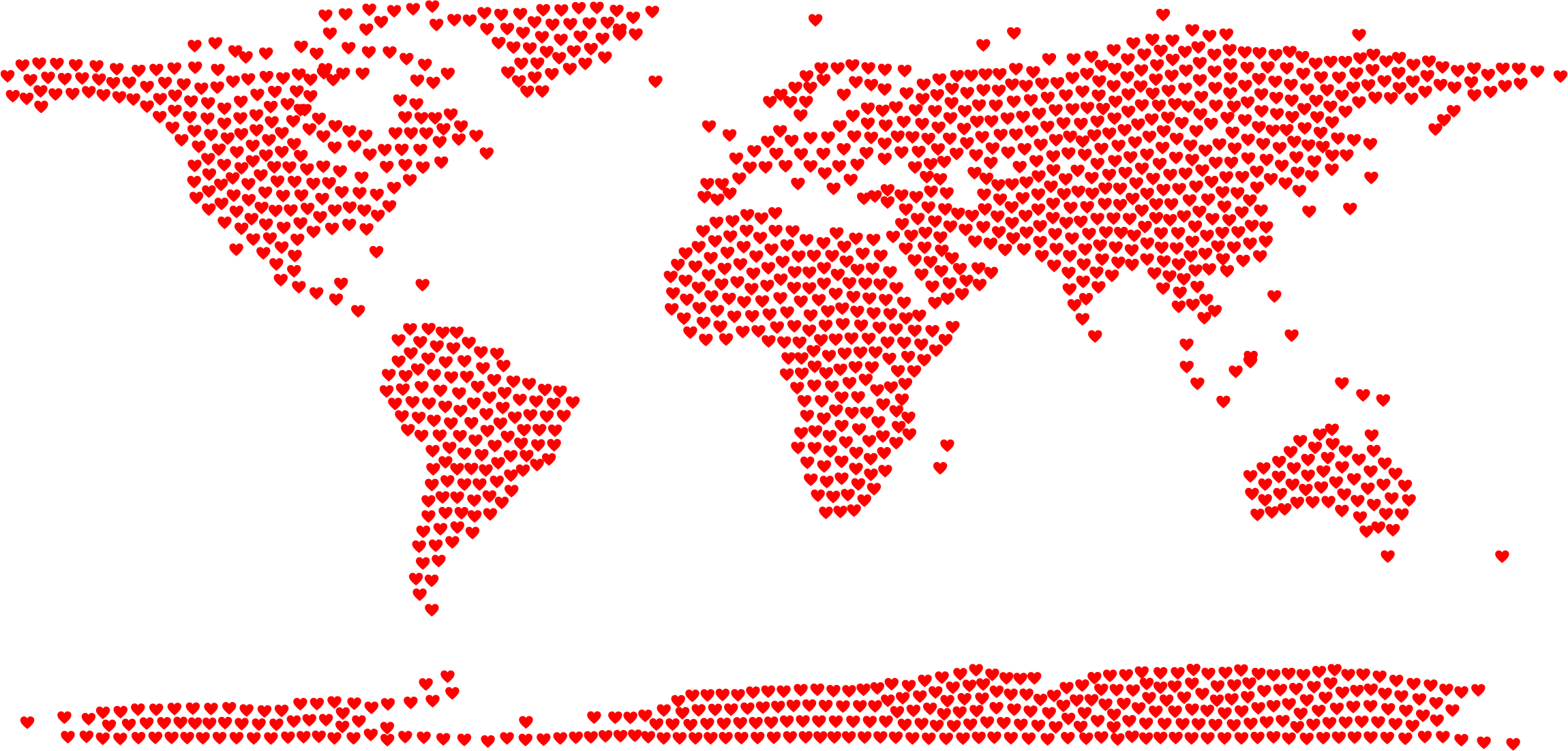 World big image png. Clipart hearts map