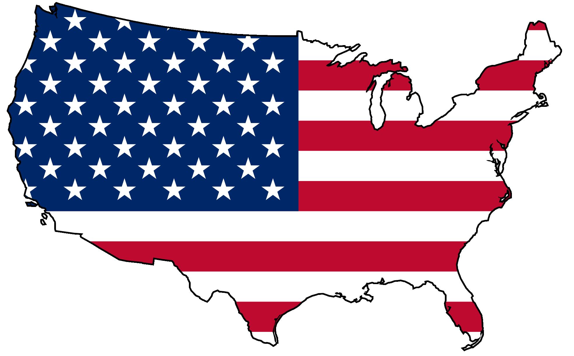 America clipart. American map