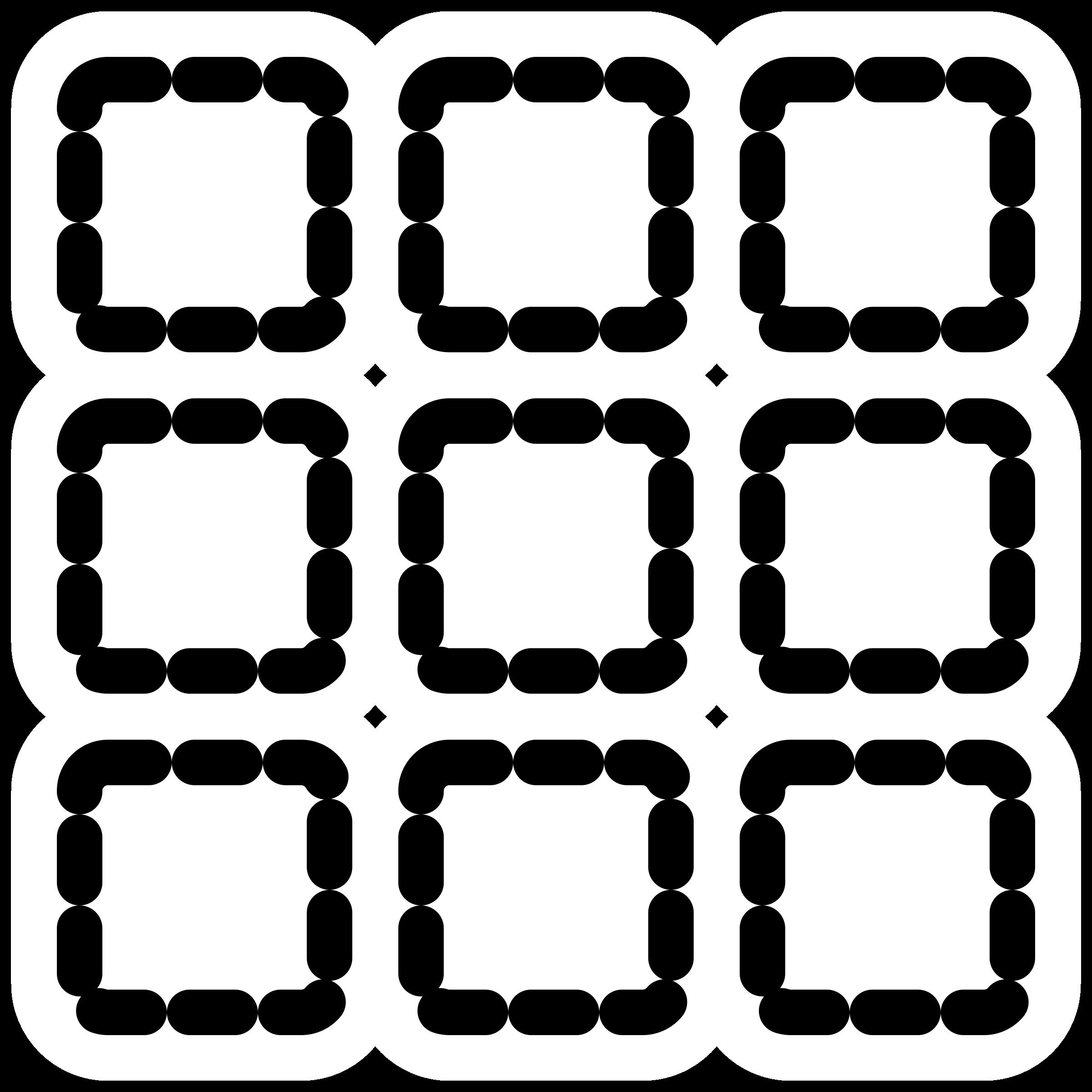 Mono matrix big image. Design clipart math