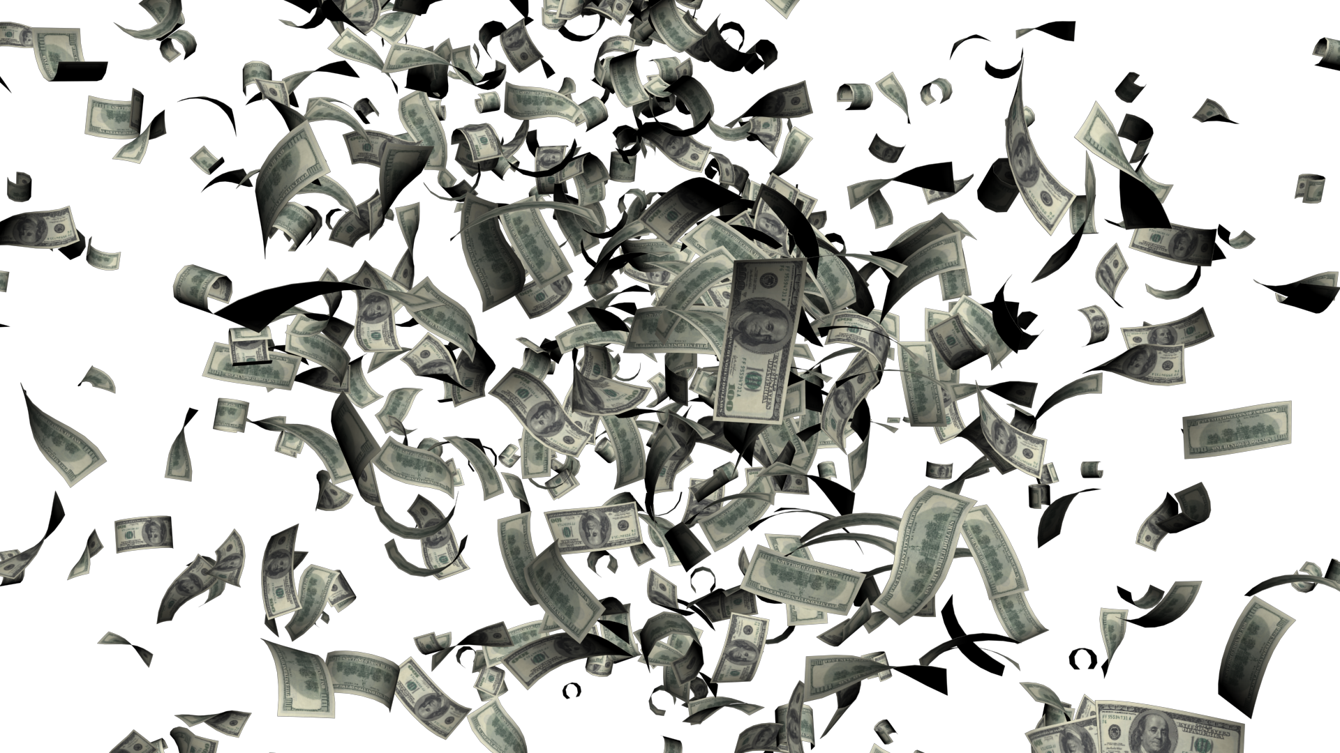 Raining money png. Falling images free download