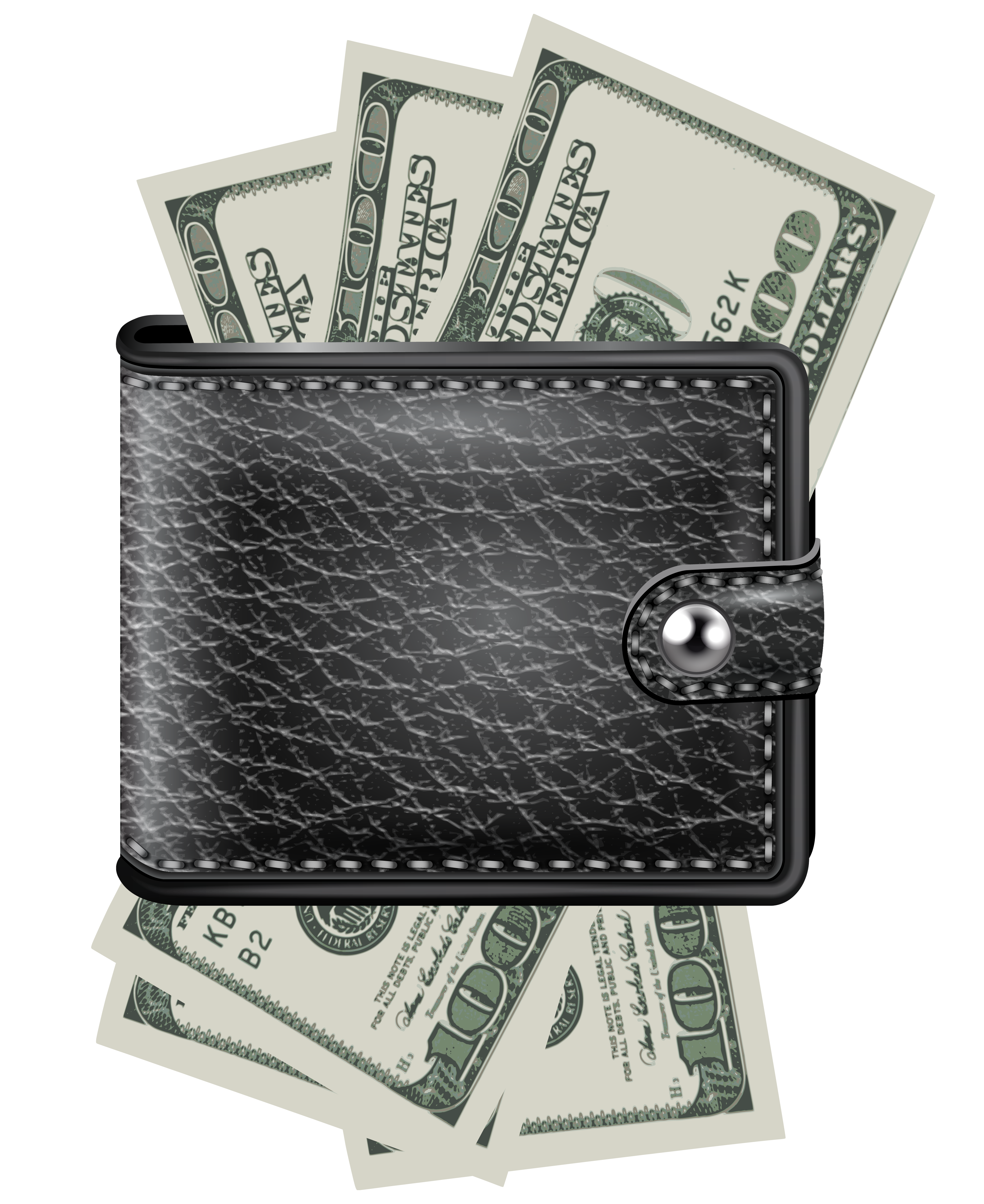 Wallet with bills png. Clipart money income