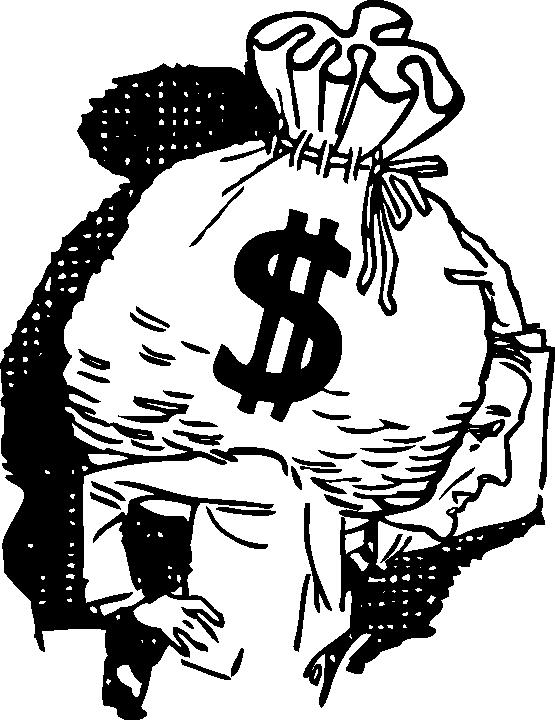 Clipartist net clip art. Clipart money black and white