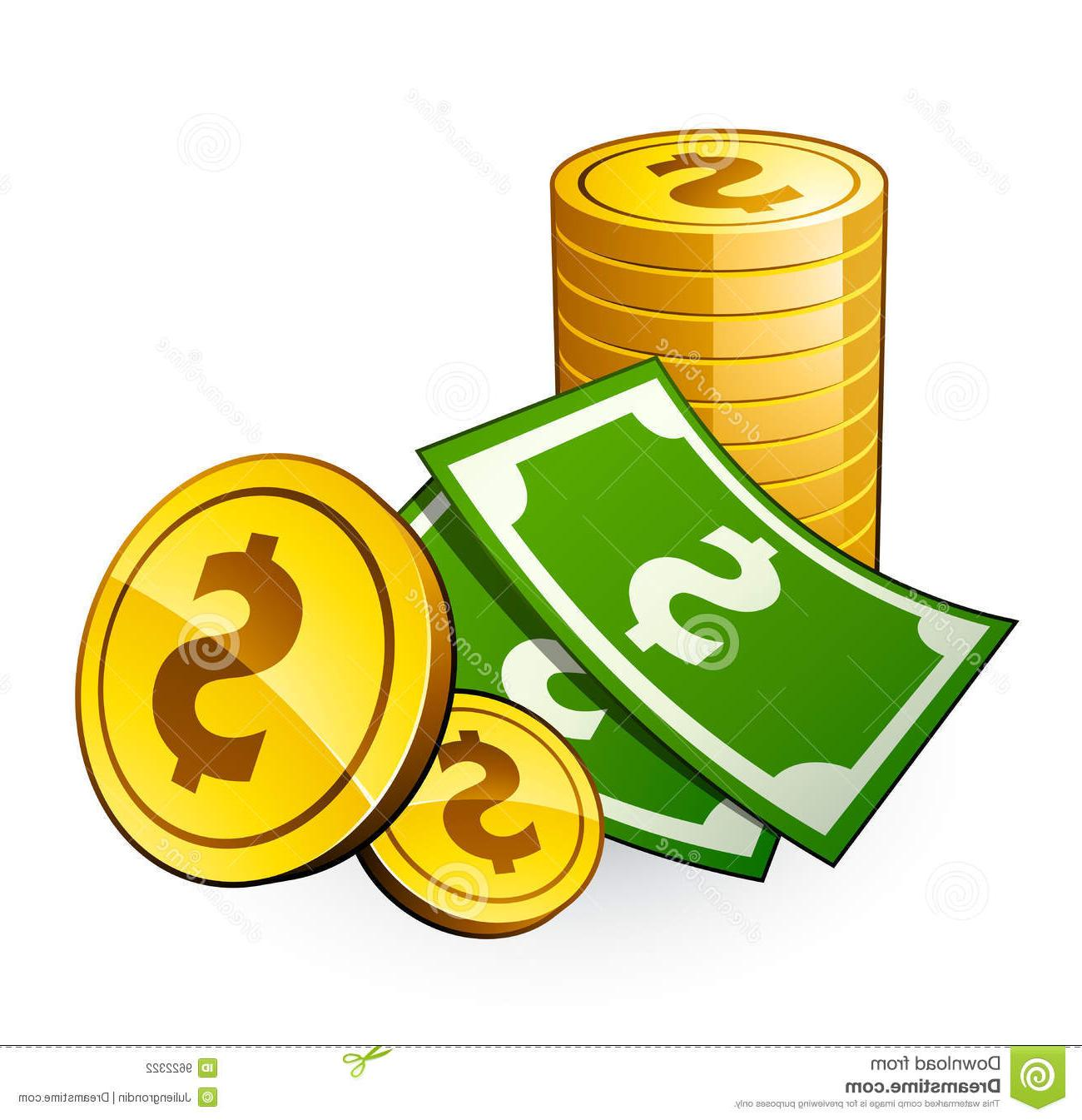 Coins clipart dollar coin. Pile of money free